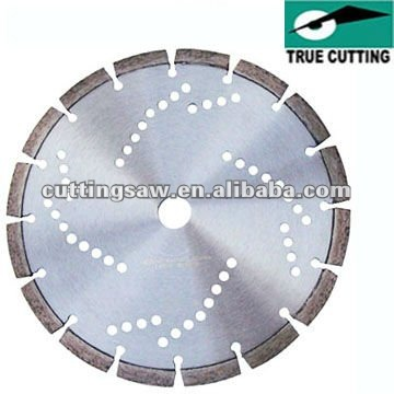 Laser welded cutting saw blade