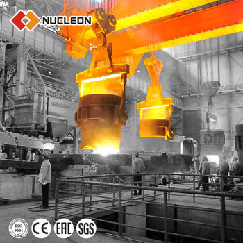 Ladle Lifting Crane For Sale Nucleon 100t 350 ton Overhead Crane For Foundry