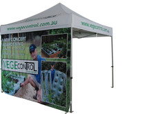 Top quality aluminum outdoor bar gazebo with custom printing