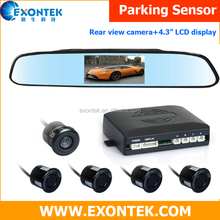 "2018 car parktronic rear backup video reverse parking sensor aid assist system with camera and 4.3"" LCD Display"