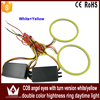 Daytime Light 60mm~140mm Double Colors White/Yellow COB Angel Eyes Hightness Ring