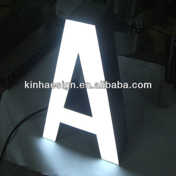 Front lit LED advertising letter with customized font