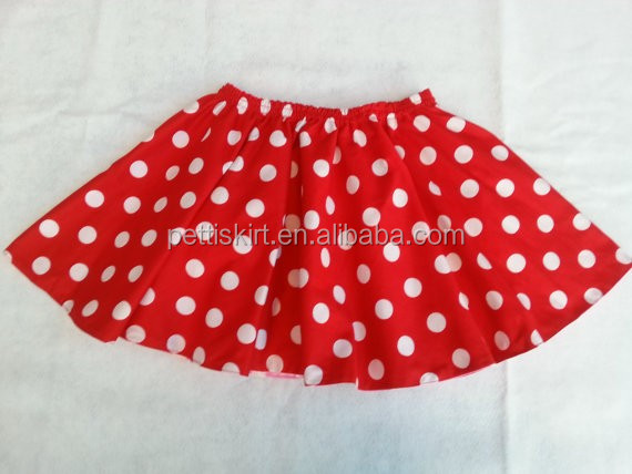 New design children's mini skirts A-line cotton pleated baby girl bubble skirt