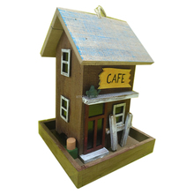 Wood bird house and wooden Bird Feeder