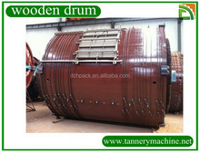 Wooden drum for cable packaging of leather soaking liming tanning
