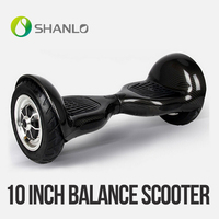 Shanlo popular manufacture 10 inch smart 2015 hot sale 1-2 charging time portable magic dual wheel self balancing electric scoot