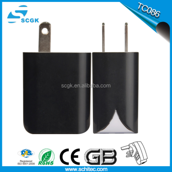 Ce fcc rohs certification High Quality EU , US Plug 5V 2.1A 2 Port USB Wall Charger
