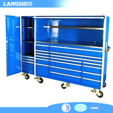 72 Inch Heavy Duty Mobile Metal Tool Chest Roller Cabinet for Garage System with Cast Wheels
