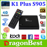 K1 Plus Amlogic S905 Streaming Media Player Media Box Iptv Free Playing