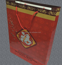 2015 cheap paper bag/ kraft handle for paper bag with zip lock/ eco-friendly handle for paper bags