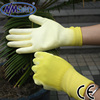 NMSAFETY yellow PU hand protective gloves have EN388 4131