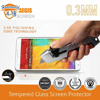 New arrival! 2.5D polishing edge technology tempered glass screen protector for samsung galaxy note 3