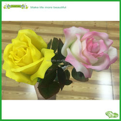Real touch latex artificial high simulation single stem rose flower