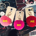 Newest Fashion Luxury Mirror TPU Phone Cases Cute Rabbit Fur Ball For Samsung Galaxy S8 S8 Plus S7 S7 edge S6 S6 edge