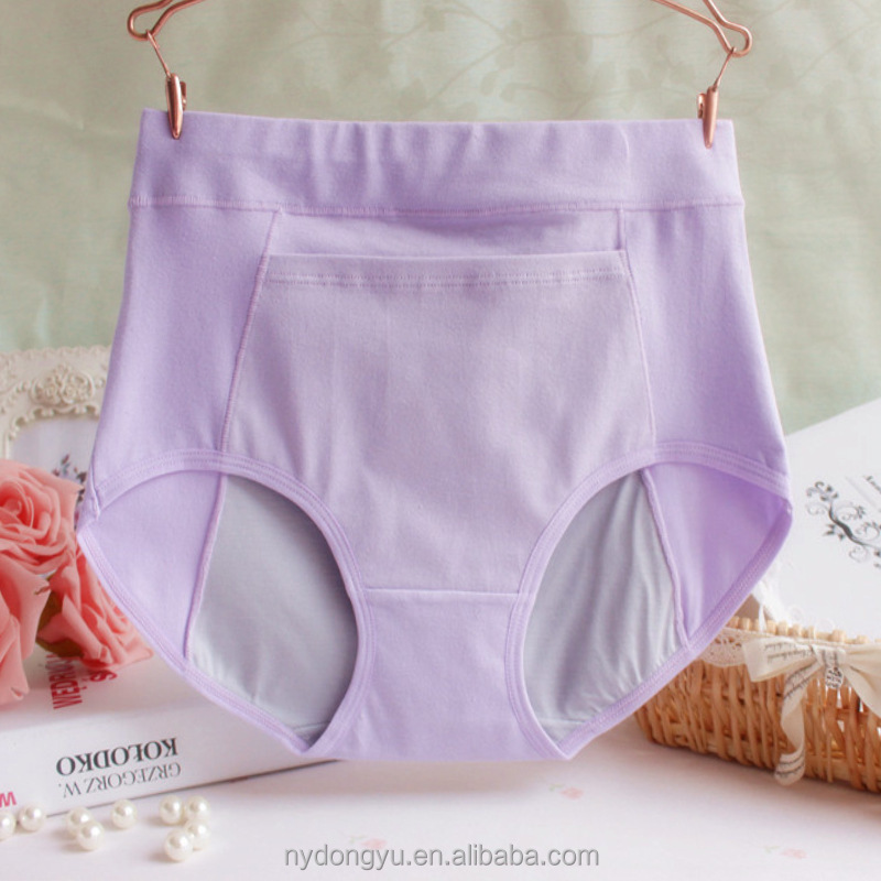 women cotton period panties briefs /wxq pocket period panties breathable underwear/ Women cotton period panties