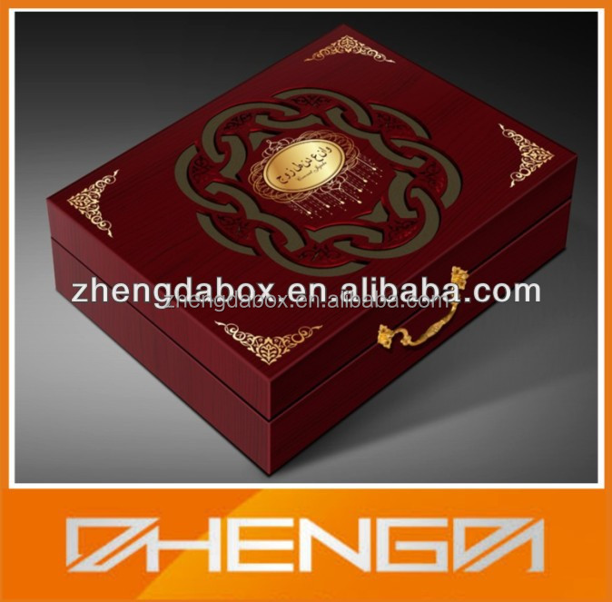 HOTSALE Customized Made-in-China Wooden Quran Box(ZDW13-H066)