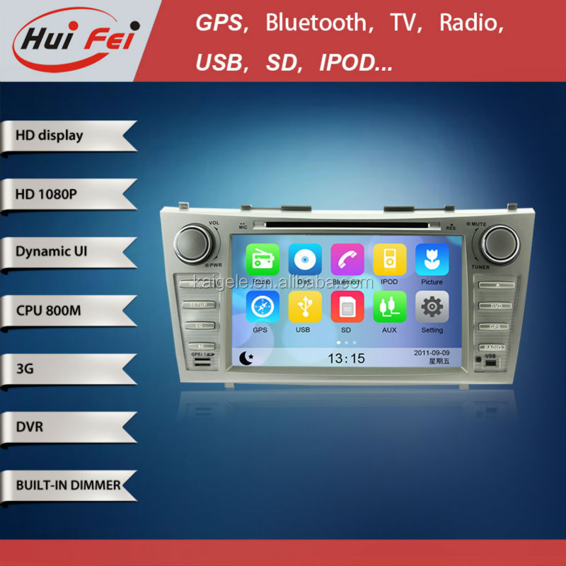 HuiFei Virtual Disc HD 1080P support 3G WiFi iPhone New Interface for Toyota Camry Car DVD Player with GPS