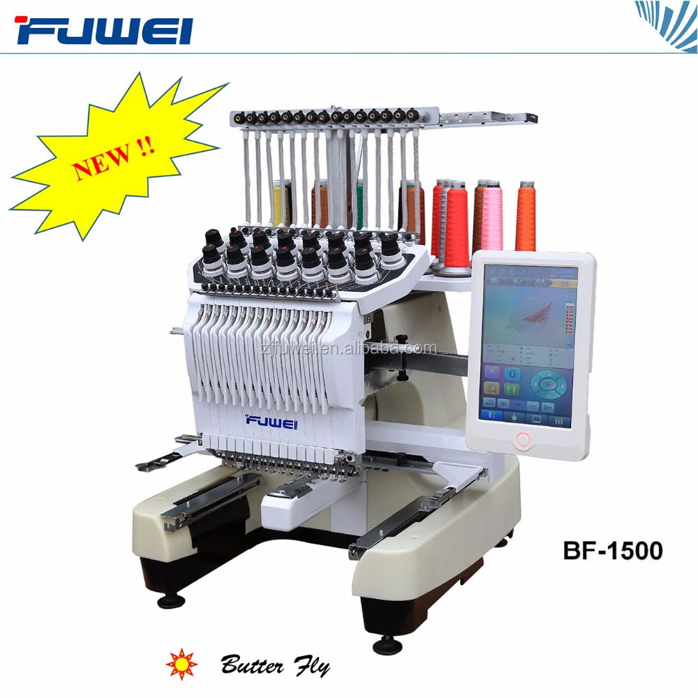 Fuwei Newest automatic single head embroidery machine as tajima type for home used