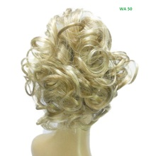 "Short 6.5""L Curly Golden Blonde Newest Synthetic Wig Deluxe craft with Best Quality Popular hair style Claw clip ponytail Hair"