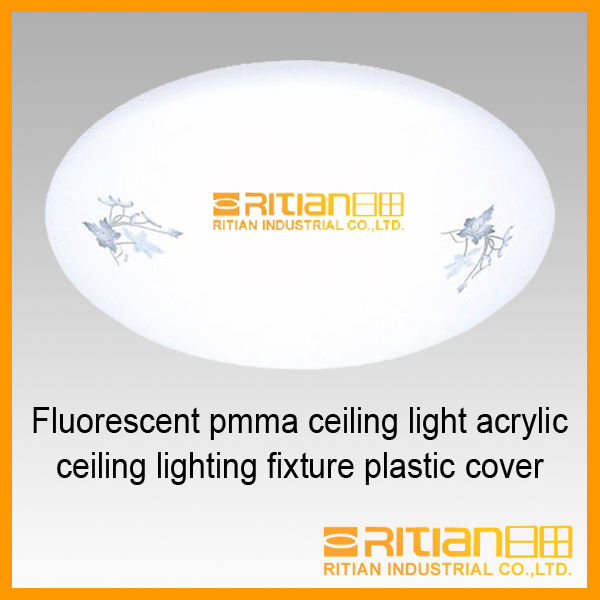Fluorescent pmma ceiling light acrylic ceiling lighting fixture plastic cover