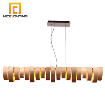 NICE lighting wholesale large hotel pendant lamp color chrome material metal aluminum chandelier