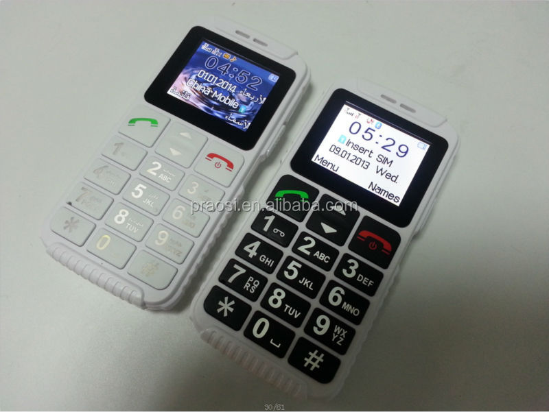 big keypad with large button senior mobile phone, cheap 3g original china elder cell phone