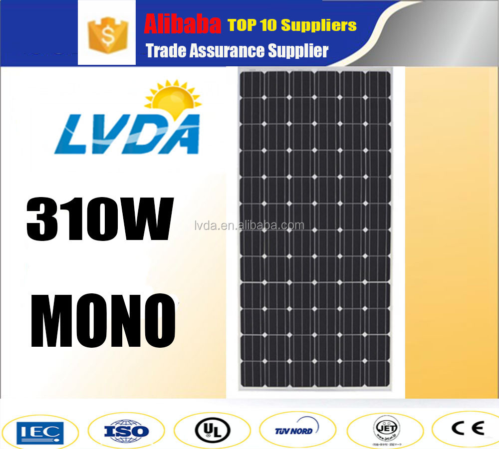 High efficiency factory directly sale solar panel 300 310w 320w mono solar panel