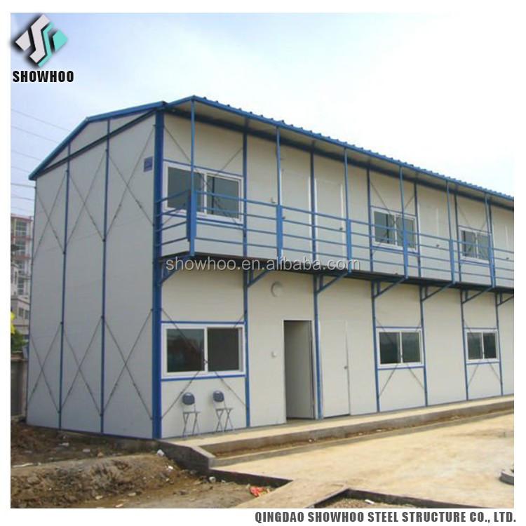 Low Cost Metal Prefab Barns Steel Buildings Light Steel Frame House For Salee