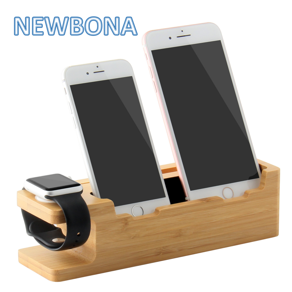 Custom Charging Holder Wood Watch Stand For Apple Watch Phone