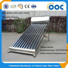 Unpressurized evacuated tube solar energy water heater slogan with good quality