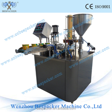 XBG-900 rotary paper yogurt cup fill and seal machine for water paste
