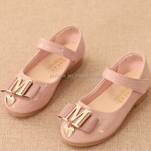 F10080E New autumn design girls' flat shoes fancy performance shoes shiny PU shoes for girls