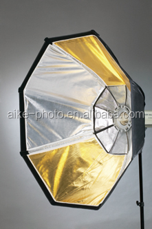 Professional photo studio supplies gold / silver Multilayer Hexagon soft box/light box