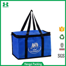 Promotional Wholesale Customized Wine Bottle Non Woven Ice Thermal Lunch Insulated Cooler Bag For Frozen Food