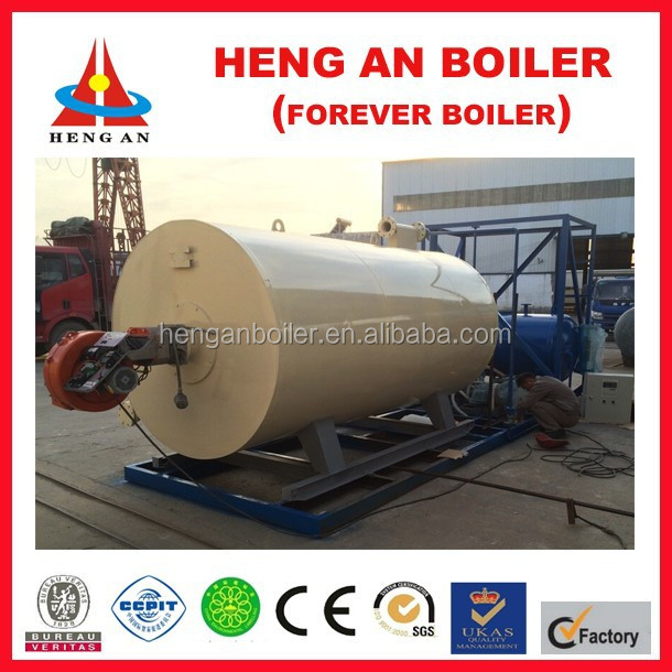industry food heating gas fired hot oil boiler heating system