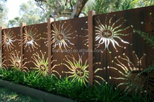 laser cut grille panel used for garden fence decoration