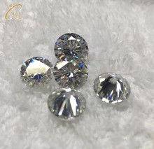 Charming Synthetic Gemstone Round Brilliant Cut D Color Moissanite