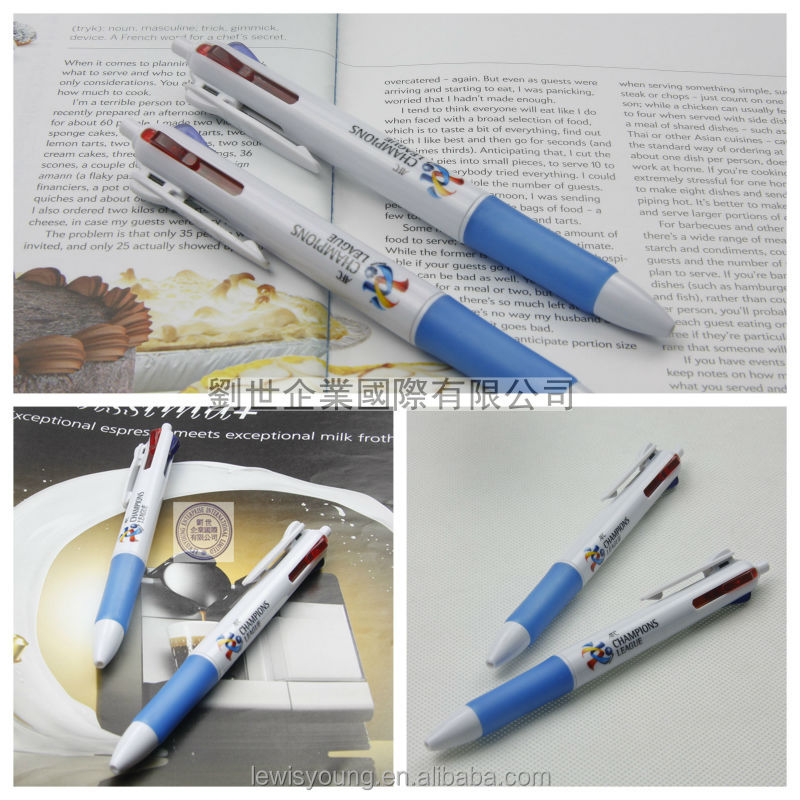 4 colors ball pen bic multi-color pen fur pen