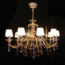 2012 modern ch European traditional 8 light Georgian style chrome big crystal chandelier lighting with clear glass arms ETL88017