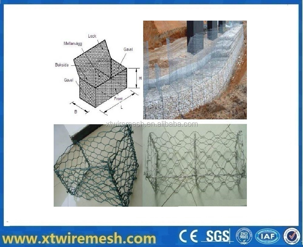 Low Price Galvanized welded Hexagonal Wire Mesh/Gabion Box