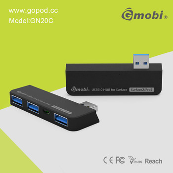 High Speed Gmobi USB 3.0 HUB 4-in-1 Connection Kit+Card Reader Convenient For Surface 2/Pro 2