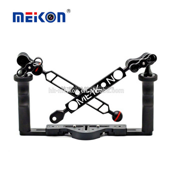 wholesale price 8'' flex arm meikon underwater camera double handle tray for diving