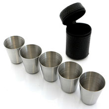 1oz stainless steel wine cup shot glass