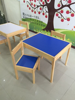 Children learn table and chair Multi-fonction melamine wooden kids table set Green & Environmental protection wooden kids table