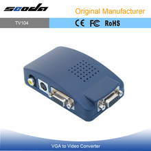 VGA to RCA + S-Video Converter Box - PC to TV Connection