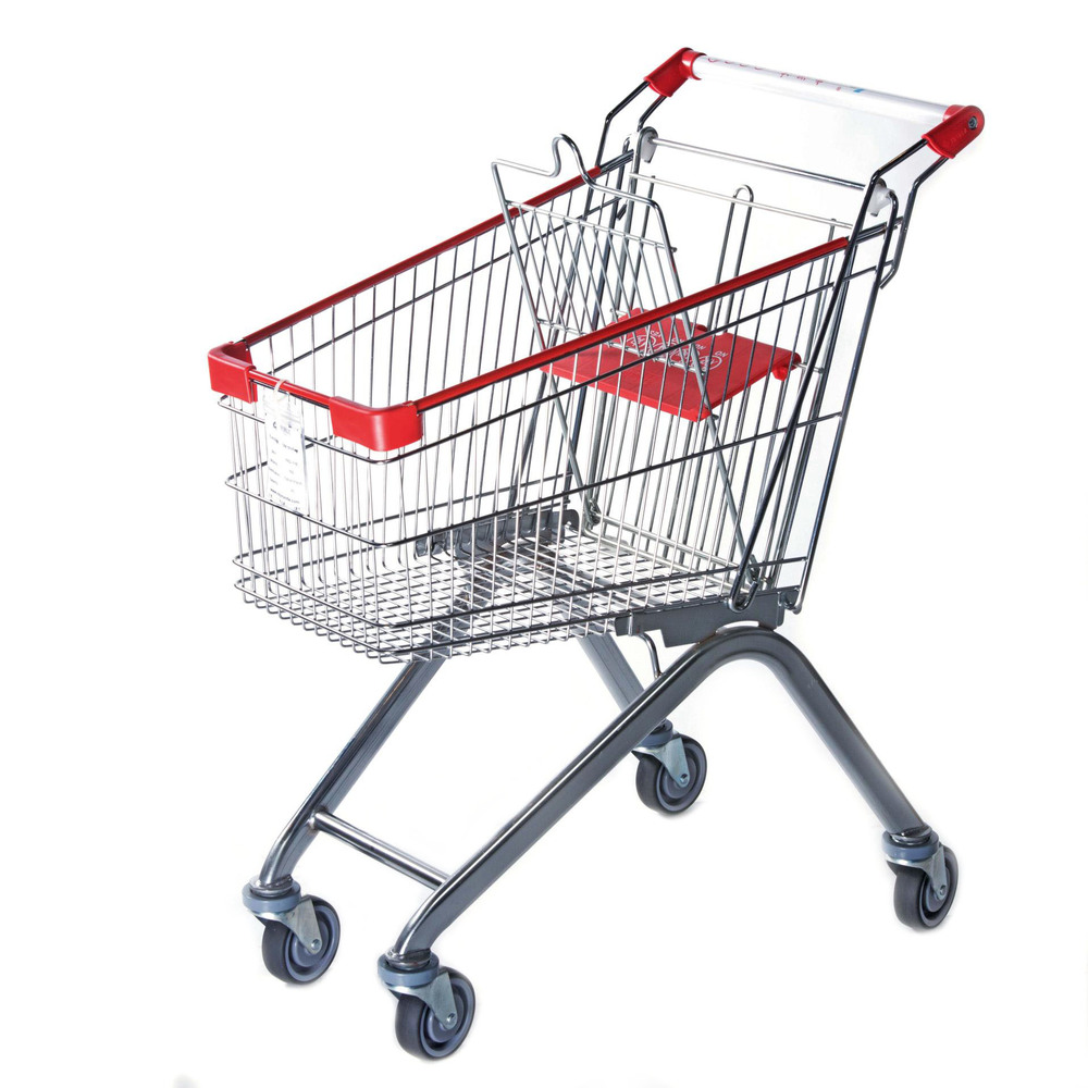 60L supermarket shopping trolley