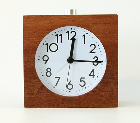 House decoration wooden table quartz alarm clock with back light