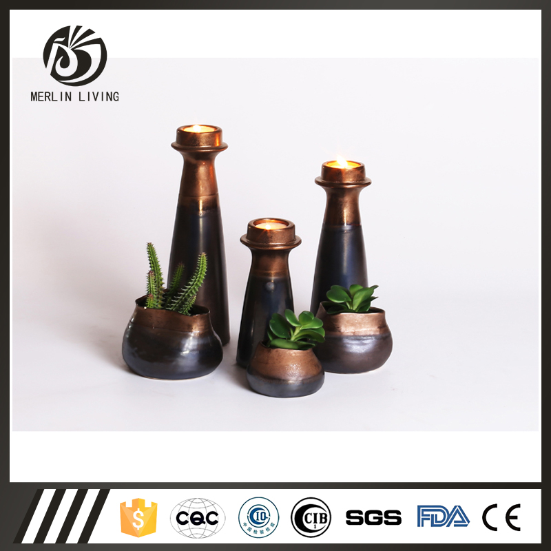 Antique color ceramic flower vase for home furniture decoration