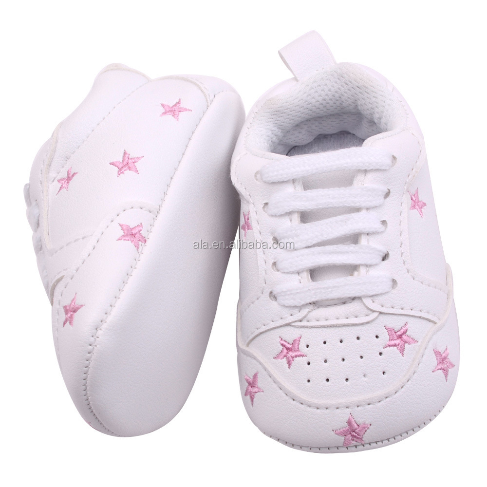 Pink star leather shoes prewalker 2017 custom baby girls shoes wholesale latest designs multi colors mixed