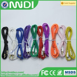 2016 new product coiled microphone cable headphone microphone cable optical to rca cables